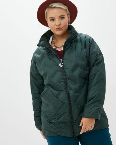 Утепленная куртка - зеленая Артесса