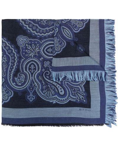 Z kaszmiru szalik - niebieski Etro
