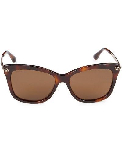 Солнцезащитные очки металлические - коричневые Jimmy Choo