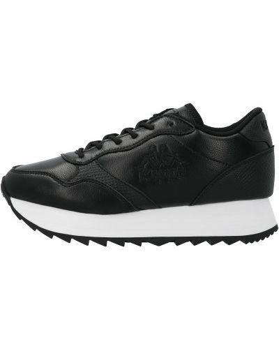 Спортивные черные кроссовки на шнуровке из натуральной кожи Kappa