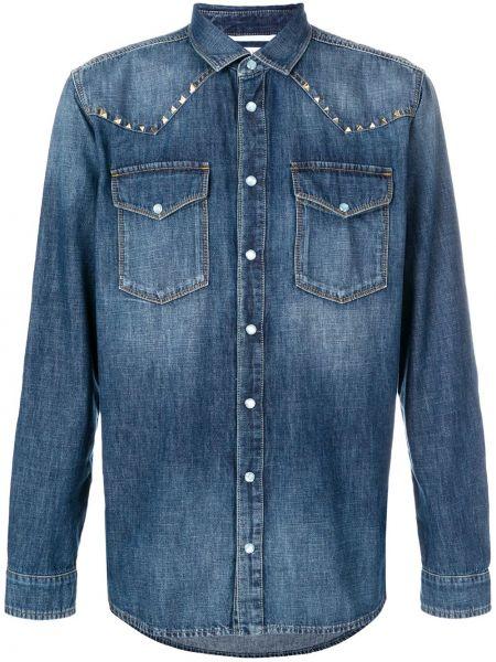 Koszula z długim rękawem dżinsowa długa Valentino
