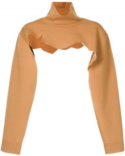 Brązowa koszulka z długimi rękawami Tibi