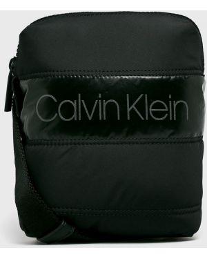 Текстильная кожаная сумка Calvin Klein