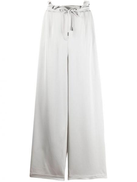 Широкие брюки - серые Emporio Armani