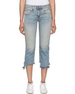 Прямые джинсы слим фит стрейч R13