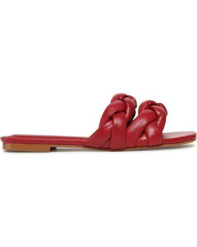 Шлепанцы на каблуке - красные Eva Longoria
