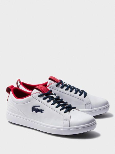 Кожаные кроссовки - белые Lacoste