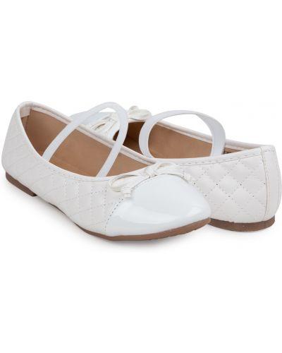 Текстильные белые туфли на торжество Santa&barbara