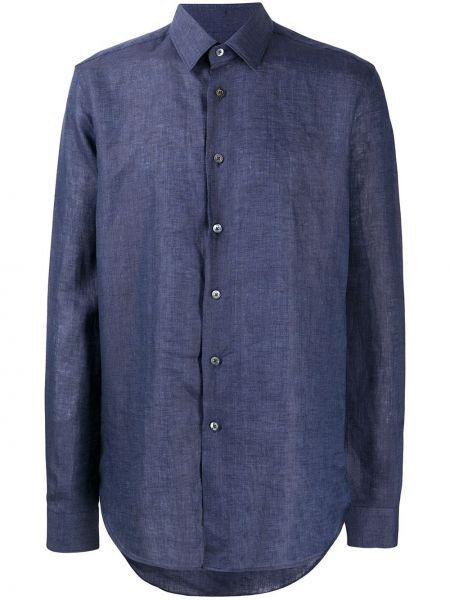 Koszula z długim rękawem wyposażone niebieski Dell'oglio