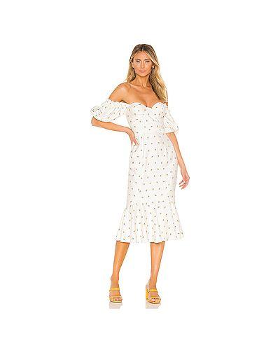 Платье миди шелковое на молнии Majorelle