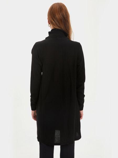 Платье макси длинное - черное Defacto