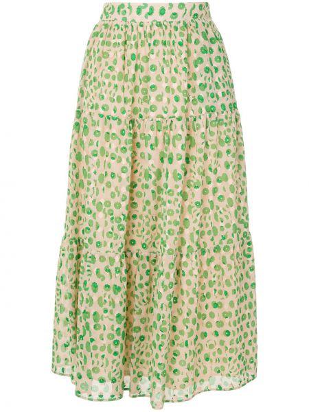 Зеленая юбка из вискозы Paul & Joe