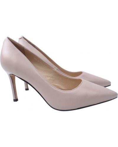 Кожаные туфли - бежевые Angelo Vani