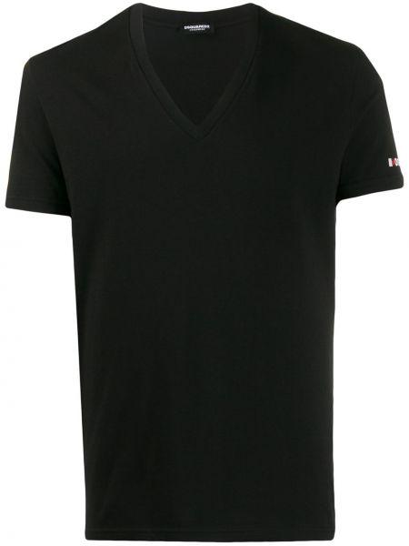 Koszula krótkie z krótkim rękawem prosto z mankietami Dsquared2
