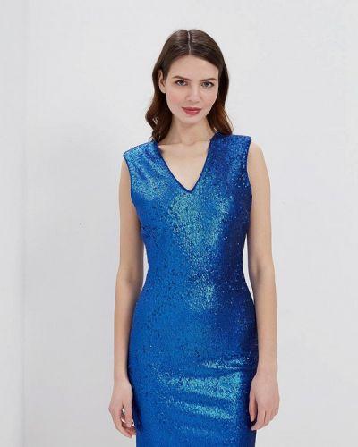 Коктейльное платье синее Silvian Heach