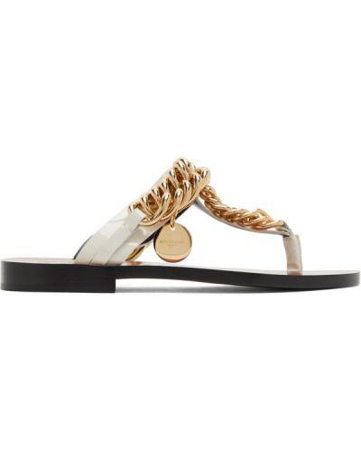 Otwarty czarny sandały z prawdziwej skóry wytłoczony Givenchy