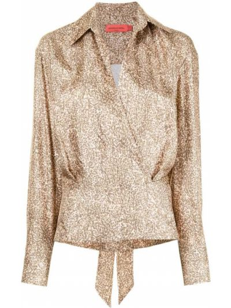 Шелковая блузка - коричневая Manning Cartell