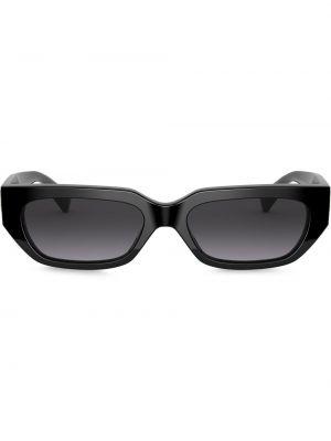 Черные солнцезащитные очки прямоугольные металлические Valentino Eyewear