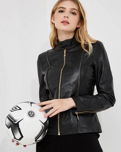 Черная осенняя куртка Just Cavalli