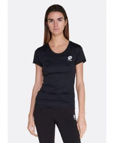 Свободная трикотажная черная футболка Lotto