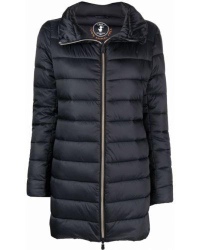 Черное нейлоновое пальто Save The Duck