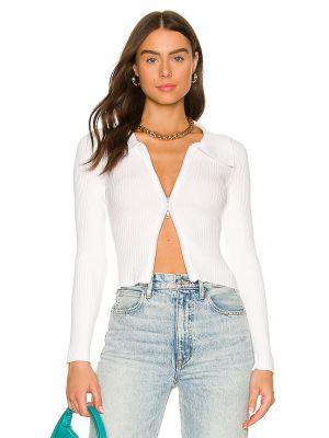 Koszulka prążkowana - biała Superdown