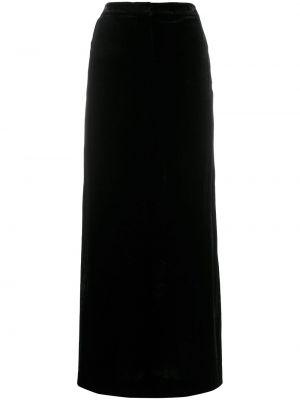 Черная юбка макси с поясом Emilio Pucci Pre-owned