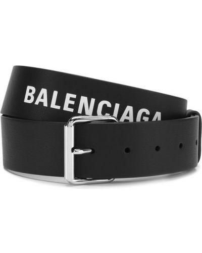 Ремень кожаный металлический Balenciaga