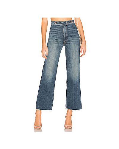 Расклешенные джинсы с накладными карманами Mother