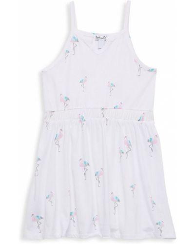 Текстильное белое платье на бретелях с V-образным вырезом Splendid
