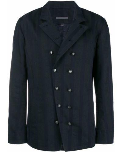 Куртка льняная с нашивками John Varvatos