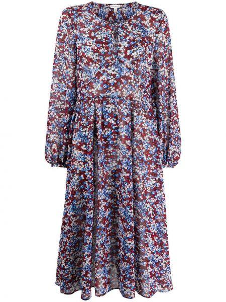 Платье миди с цветочным принтом с рукавами Tommy Hilfiger