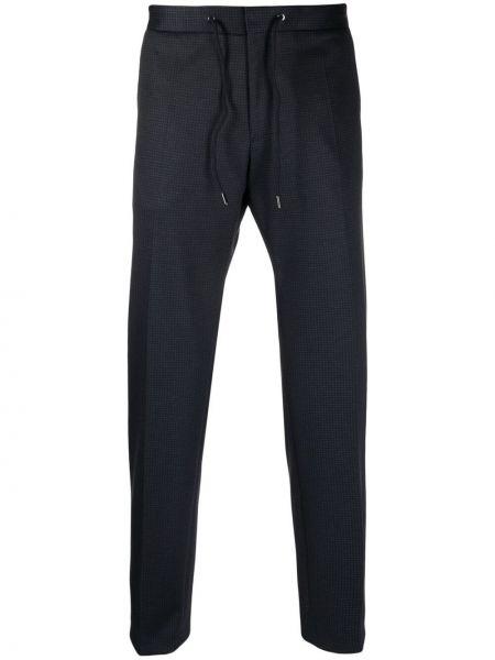 Niebieskie spodnie bawełniane Boss Hugo Boss