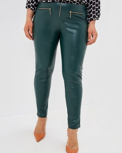 Зеленые зауженные брюки Prewoman