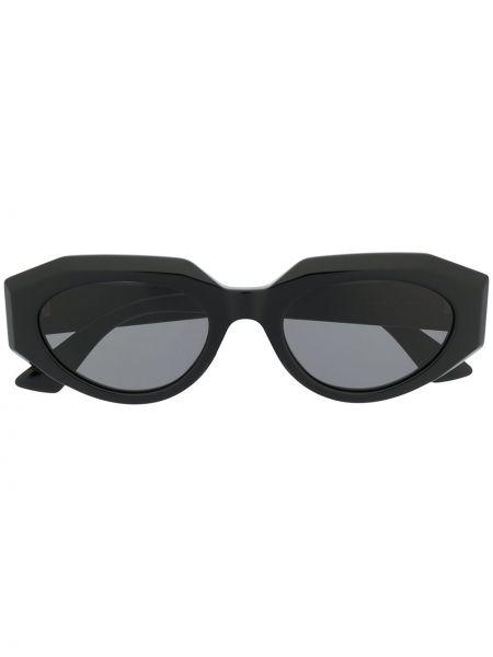 Золотистые черные солнцезащитные очки Bottega Veneta Eyewear