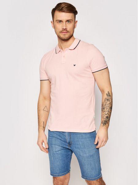 Różowa koszulka Wrangler