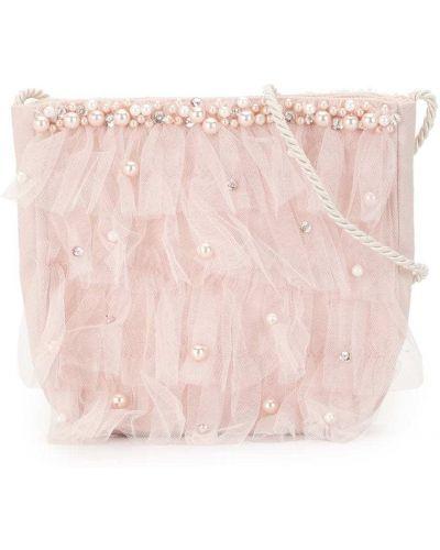 Хлопковая розовая сумка с оборками Tutu Du Monde