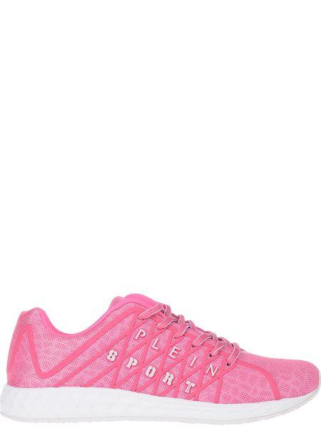 Текстильные кроссовки - розовые Plein Sport