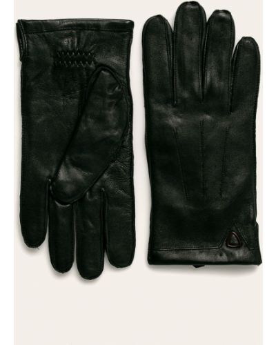 Кожаные перчатки шерстяные Strellson