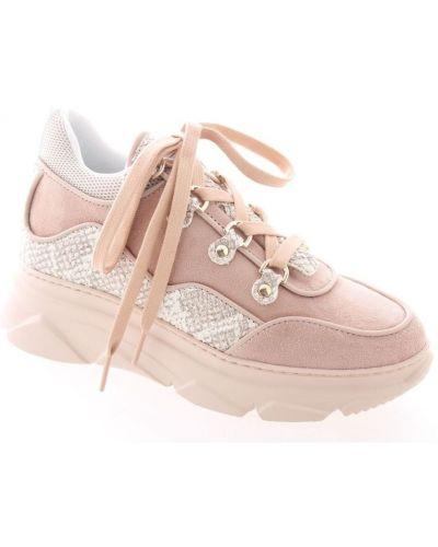 Różowe sneakersy Stokton