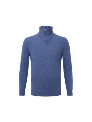 Голубая итальянская свитер Svevo