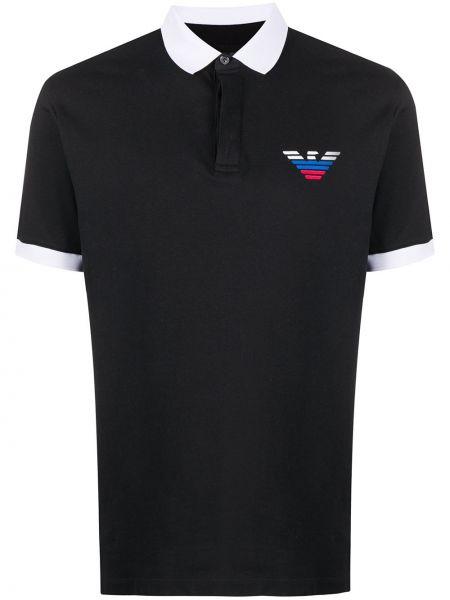 Koszula z logo z kołnierzem Emporio Armani