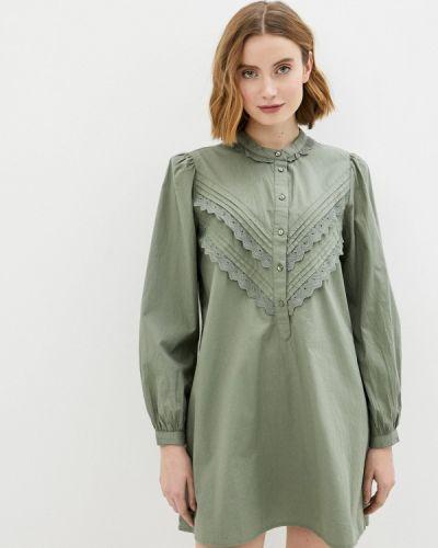 Зеленое платье-рубашка Jacqueline De Yong