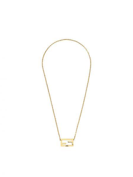 Ожерелье золотой Fendi