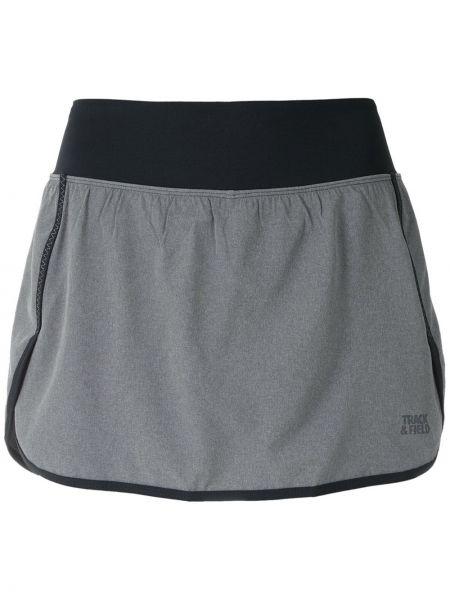 Серая прямая юбка мини с поясом Track & Field