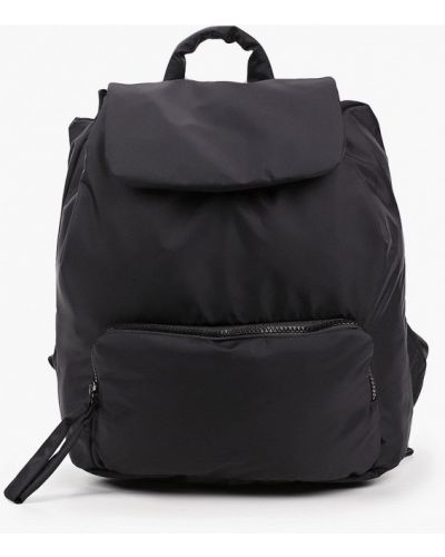 Текстильный черный городской рюкзак Mango