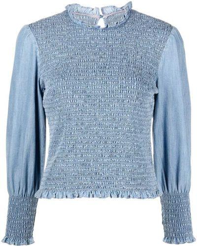 Синяя блузка с вырезом Veronica Beard