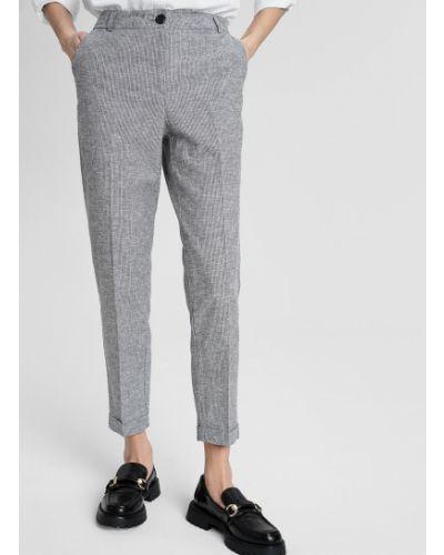 Серые деловые брюки повседневные O'stin