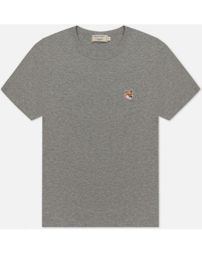 Базовая футболка - серая Maison Kitsuné