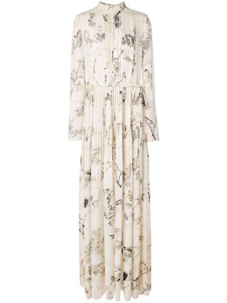 Платье на пуговицах с цветочным принтом Oscar De La Renta